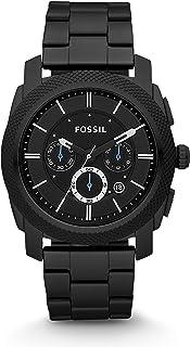 Fossil Men's Machine Quartz Stainless Steel Chronograph Watch Color: Grey