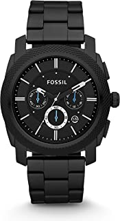 Fossil Men's Machine Quartz Stainless Steel Chronograph Watch Color: Grey