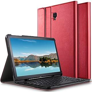 Luibor Samsung Galaxy Tab S4 10.5 Funda de Teclado Funda de Soporte Frontal con Teclado Desmontable para Samsung Galaxy Tab S4 10.5 SM-T830 (Wi-Fi) & SM-T835 (4G LTE) Tableta (Rojo)