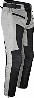 Mens Motorcycle Riding Pants Grey Black Mesh with CE Approved Armor