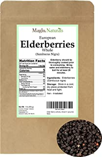 Elder Berry whole, dried (1 pound)