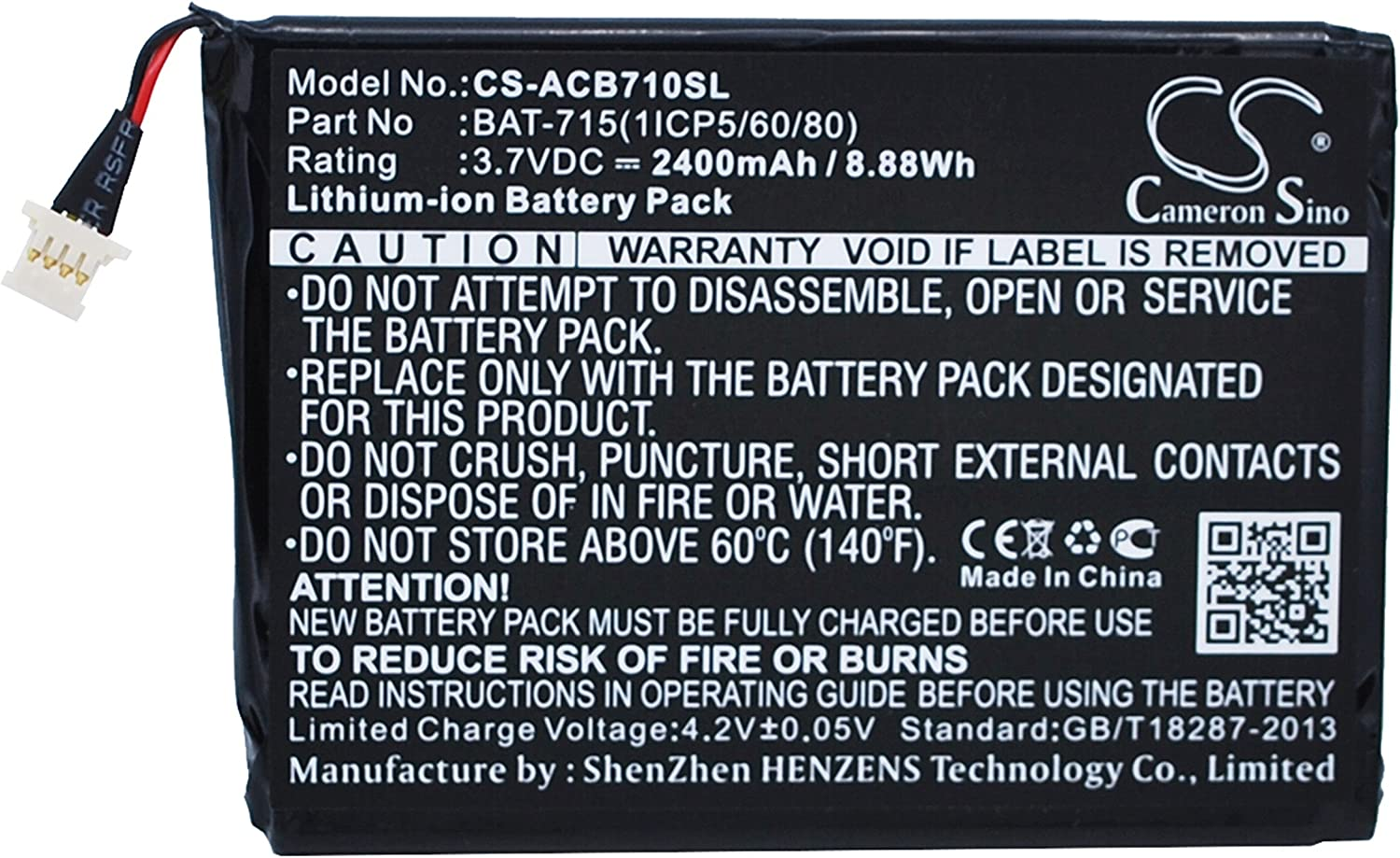 Replacement Battery Part No.BAT-715(1ICP5/60/80) for Acer Iconia B1-A71, Acer Iconia B1-A71-83174G00nk, Acer Iconia Tab B1, Li-ion Tablet Battery