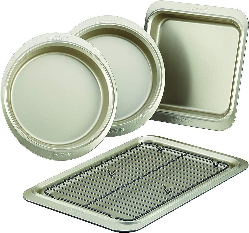 Anolon 59967 Nonstick Bakeware Set 5 Piece Onyx Pewter