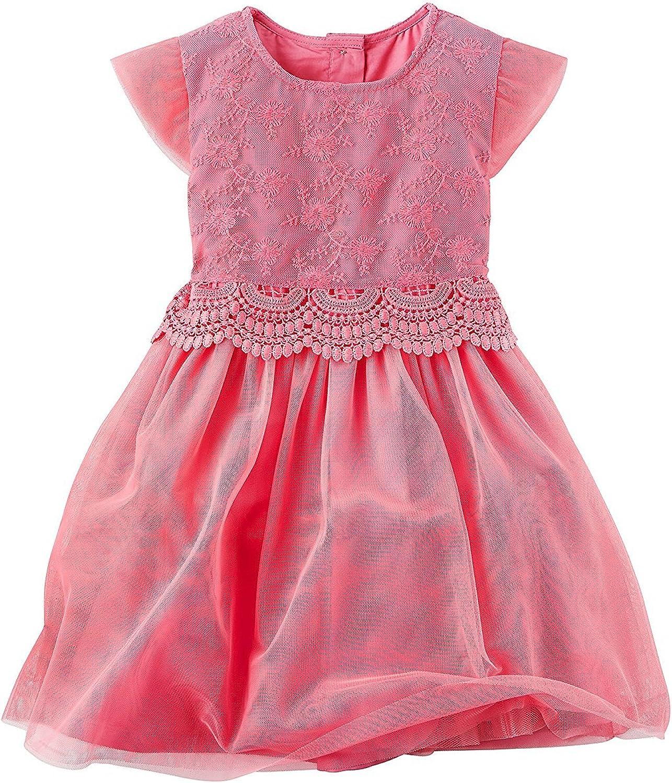 Carter's Girls' 2T-8 Printed Tulle Dress