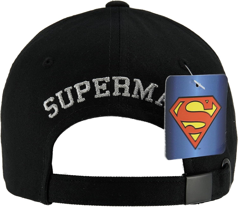DC Comics Superman Logo Shield Symbol 6 Panel Mid-Profile Cotton Hat Baseball Ball Cap for Men Women Made in Korea