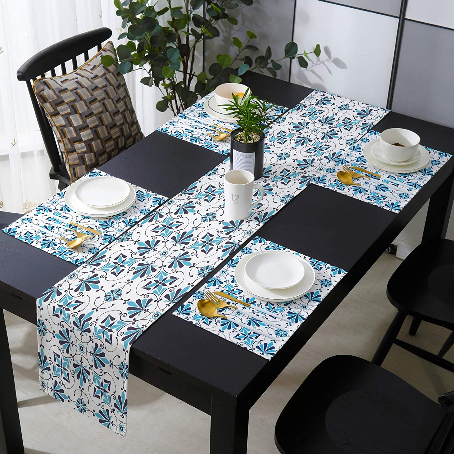 Table Boston Mall Runner and 4 Pieces Placemats Kitche Sales of SALE items from new works Linen Cotton 13