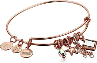 Alex and Ani Women's Starfish Cluster Charm Bangle Bracelet, Shiny Rose Gold