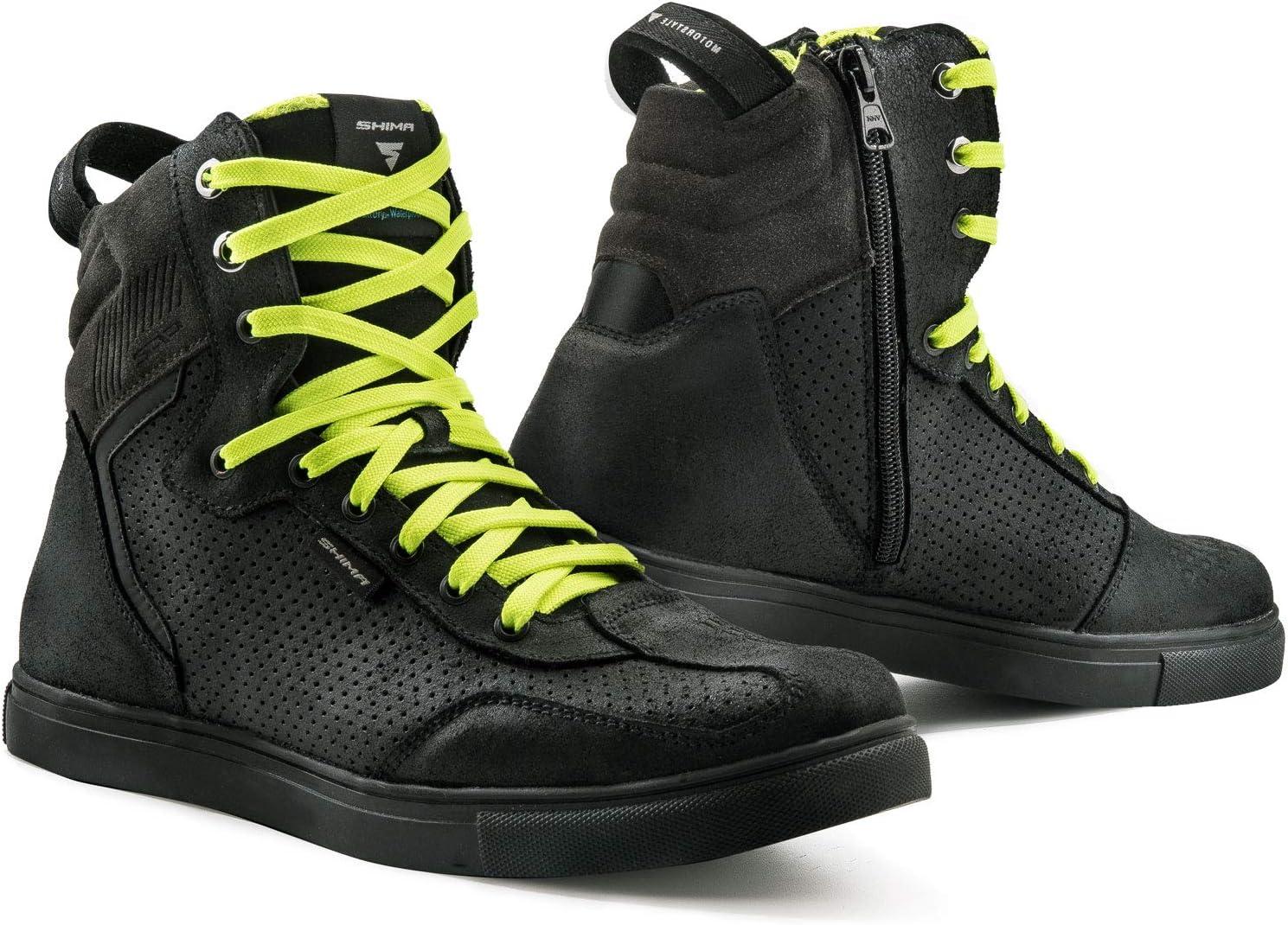 SHIMA Rebel WP Chaussures de Moto imperm/éables Urban Homme Moto Ville Sneakers Noir