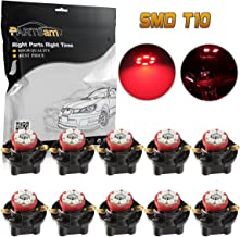 Partsam T10 194 LED Light Bulb Instrument Panel Gauge Cluster Dashboard LED Lights with 5/8
