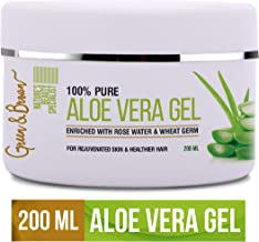 Green & Brown Aloe Vera Gel For Skin, Hair and Face Beauty Specialist, Green, 200 ml