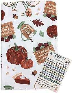 Fall Harvest Journey Vinyl Tablecloth Flannel Backed Autumn Symbols Fresh Apples Leaves Pumpkin Pie Acorns Bike Flower Bas...