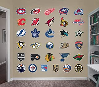Fathead NHL - Logo Collection- Officially Licensed Removable Wall Decal, Multicolor, Giant - 64-64557