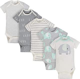 Gerber Baby 3-Pack Organic Short-Sleeve Onesies Bodysuits