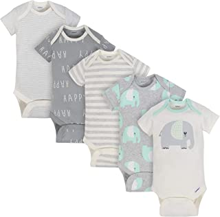 Baby 5-Pack Organic Short-Sleeve Onesies Bodysuits