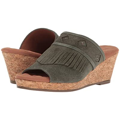 Walking Cradles Aniston (Dark Olive Max Suede) Women