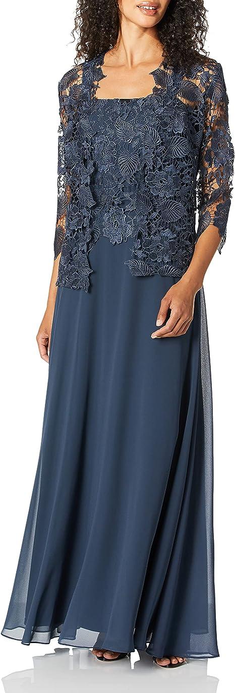 Emma Street Damen Lace Jacket Dress Kleid Fur Die Brautmutter Anthrazit 16w Amazon De Bekleidung