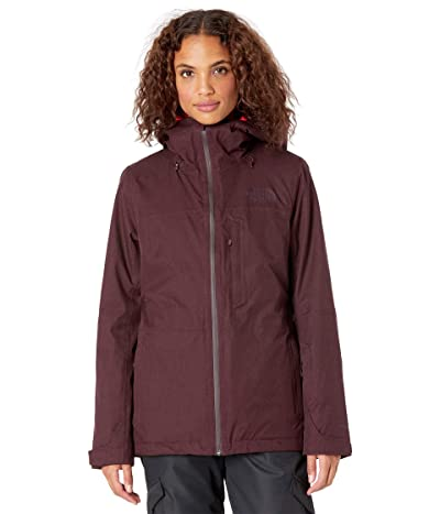 The North Face Thermoball Eco Snow Triclimate Jacket (Root Brown Heather/Flare) Women