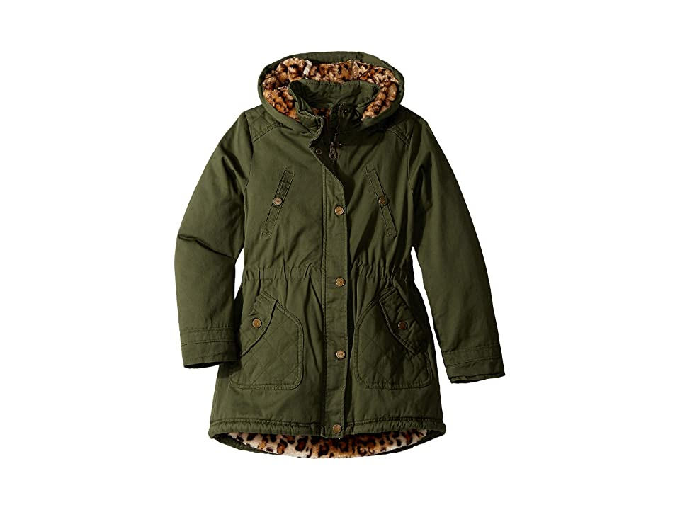 Urban Republic Kids Natasha Cotton Twill Anorak Jacket (Little Kids/Big Kids) (Olive) Girl