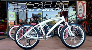 New Storm Trooper Fat Tire Beach Cruiser - White - Fat Bike Soul Stomper 3 Speed