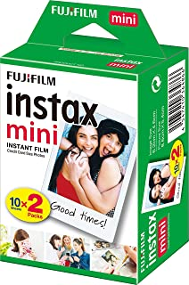 Fujifilm Instax Film For Instax Mini 8/9/11, 2 x10 (20 Sheets), Packaging May Vary