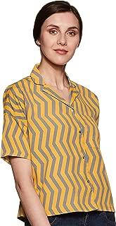 ABOF Women's Polka dot Regular fit Shirt