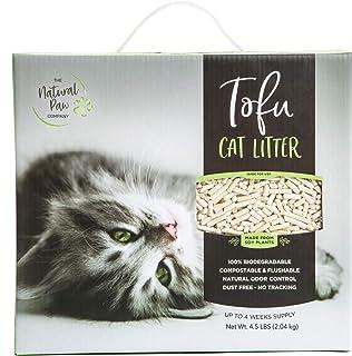 Natural Paw Tofu Cat Litter Lightweight Refill Box, Natural Odor Control Kitty Litter, 99.9% Dust Free, Fast Clumping Mult...