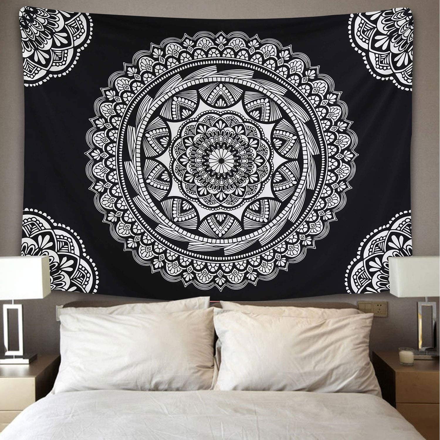 Milwaukee Mall ENJOHOS Black Mandala Tapestry and Boh All items free shipping White Indian Hippie