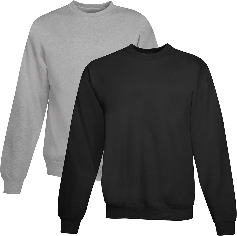 Hanes Men's EcoSmart Fleece Sweatshirt 1 Black A surprise price is realized Light Steel outlet