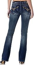 Miss Me Women's Plus Size Studded Flap Pocket Boot Cut Denim Jean