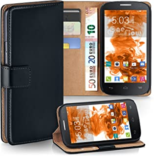 moex Alcatel One Touch Pop C1   Phone Case with Wallet 360 Degree Book Phone Cover with Card Holder - Black