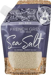 SaltWorks Sel Gris French Grey Sea Salt Tamise Grain Pour Spout Pouch, 16 Ounce
