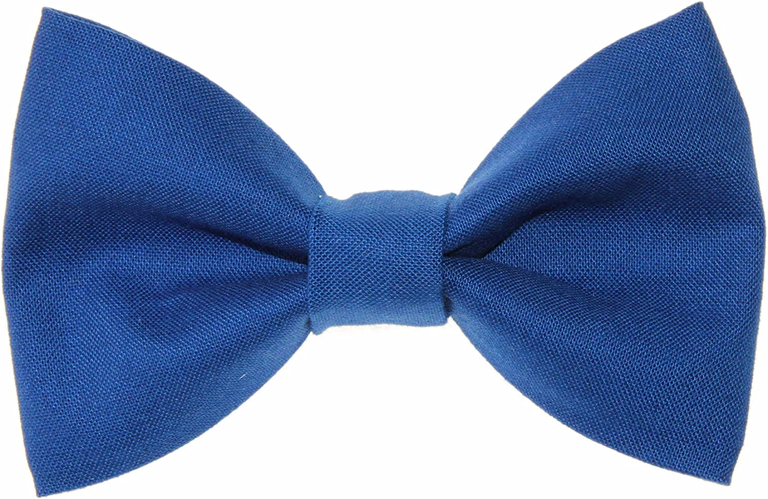 Boys Royal Blue Clip On Cotton Bow Tie Bowtie - Made in USA