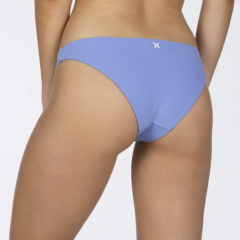 Hurley Women's Quick Dry Ribbed Mod Bikini Bottom
