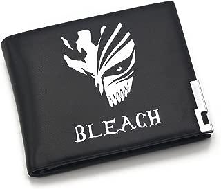 Bleach Ichgo Mask Anime Cosplay Unisex Students Men Short Pattern Purse Wallet Black