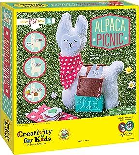 Creativity for Kids Alpaca Picnic Sew Easy So Fun! Craft Kit