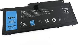 Yafda F7HVR 14.8V 58Wh New Laptop Battery for Dell Inspiron 15 7537 Insprion 17 7737 G4YJM 062VNH T2T3J