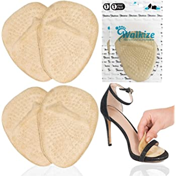 Metatarsal Pads | Metatarsal Pads for Women | Ball of Foot Cushions (2 Pairs Foot Pads) All Day Pain Relief and Comfort One Size Fits Shoe Inserts for Women (Beige)