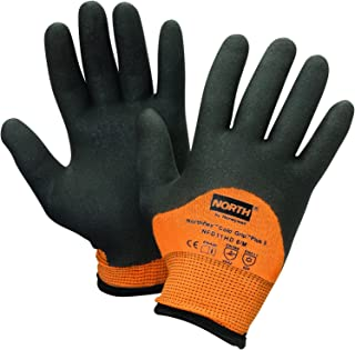 North by Honeywell NFD11HD/8M Northflex Cold Grip Plus 5 Cut-Resistant PVC Palm-Coated Gloves, Size 8/Medium
