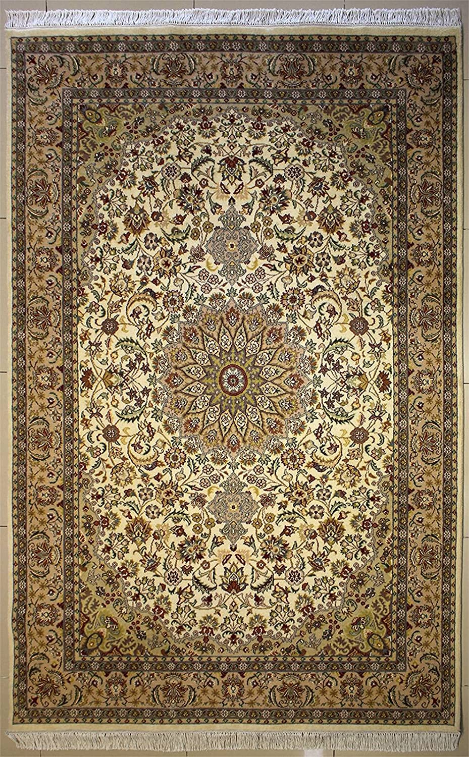 RugsTC 6'1 Regular discount x 9'3 Pak Persian Area Rug Floral Inventory cleanup selling sale De - Pile Wool with