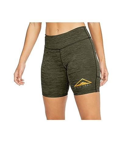 Nike Fast Shorts Trail (Sequoia/Medium Olive/Heather/Reflective Silver) Women
