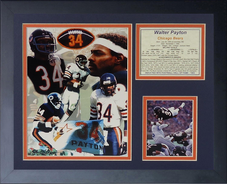 Legends Never Die Walter Payton  Framed Photo Collage, 11 x 14Inch