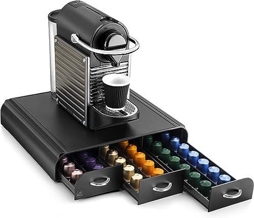 CEP 2230060011 23006 Distributeur de café avec 3 tiroirs, plastique, noir, 34,2 x 32,7 x 6,9 cm