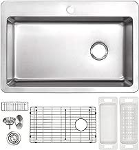 Best top mount single bowl stainless steel sink Reviews