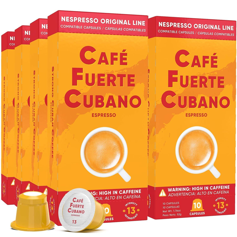 Cafe 最新 Fuerte Cubano Espresso Capsules Pods 毎日続々入荷 Nespresso Compatible