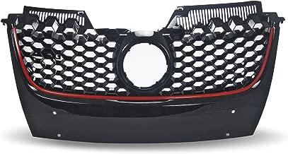 JOM 1K1853653BR K/ühlergrill im Sport-Design mit Wabengitter in Schwarz mit Roter Umrandung