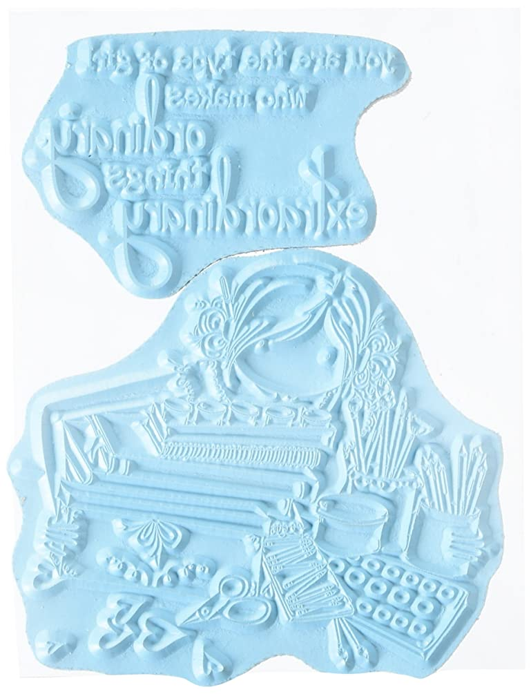 Stamping Bella Uptown Girl Callista Loves To Craft Cling Rubber Stamp, 6.5