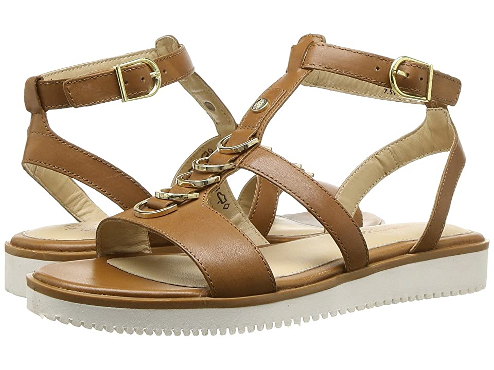 Hush Puppies Briard Ring T-Strap (Tan Leather) Women
