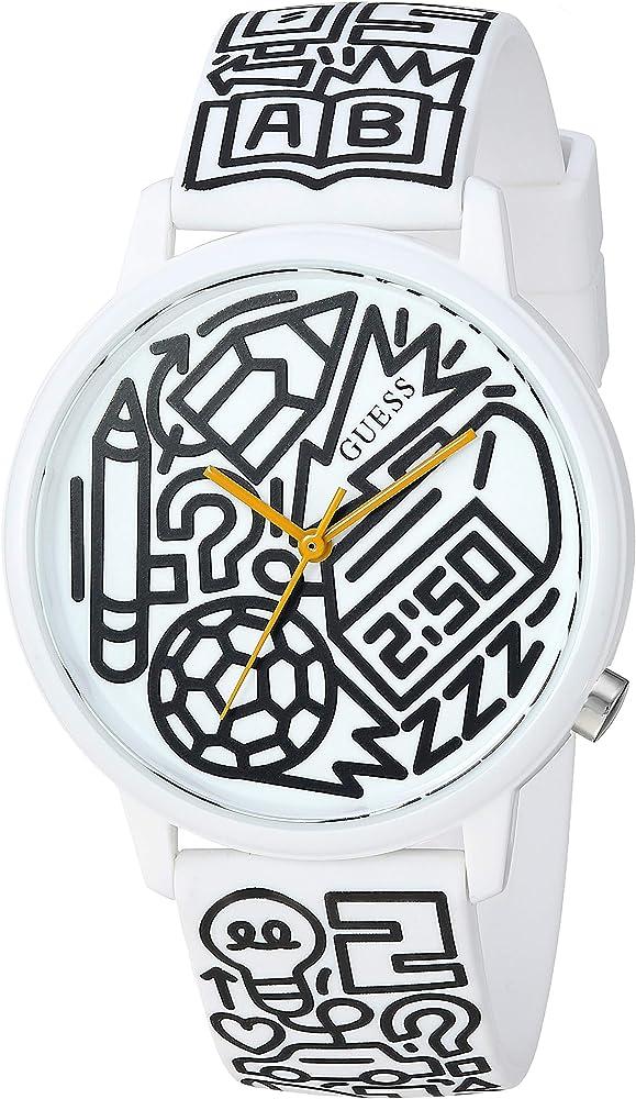 Guess,orologio per donna,in acciaio inossidabile e silicone V0023M9
