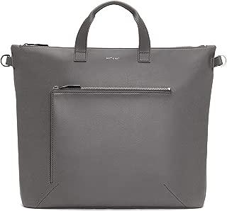 Matt & Nat Vegan Handbags, Rony Vintage Satchel Bag, Shadow - 100% Animal & Cruelty Free, Full 1 Year Warranty, 100% Recycled Linings, Eco-Friendly, Live Beautifully