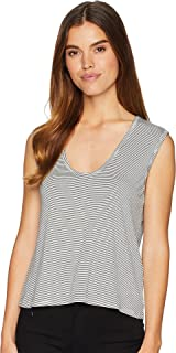 BB Dakota Womens Believe The Stripe Rayon Striped Tank Top